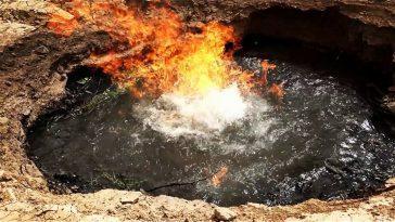 Вечный огонь: нефтяное месторождение, которое горит более 4000 лет