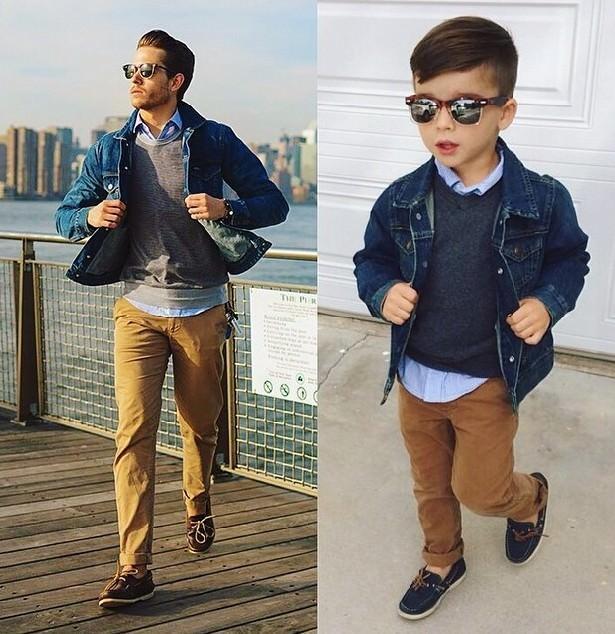 4-летний мужчина копирует стиль известных людей