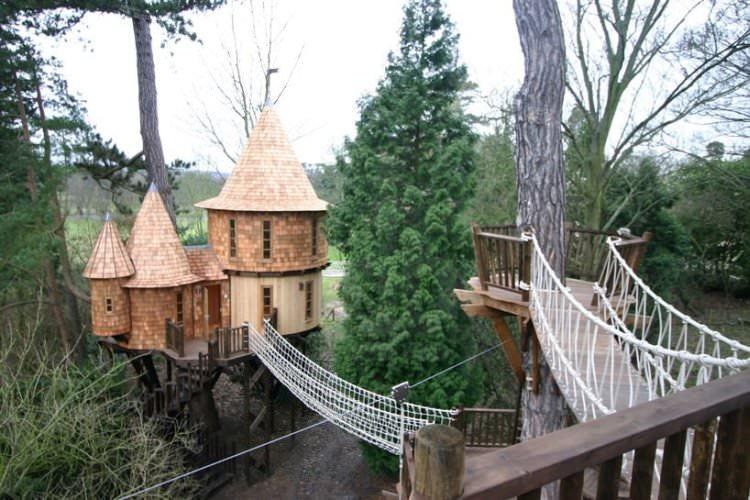 Английская семья живёт в необычном...доме на дереве