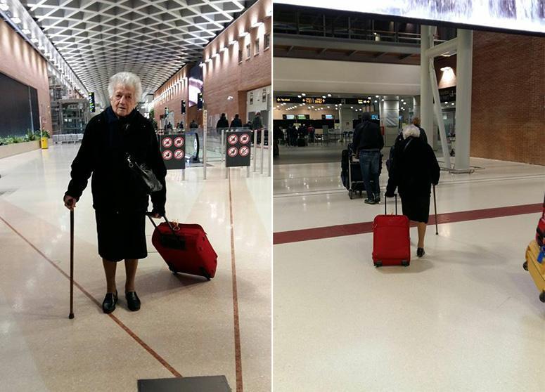 93-летняя бабушка из Новента-Вичентина, направляется в Кению, чтобы стать волонтером в детском доме.