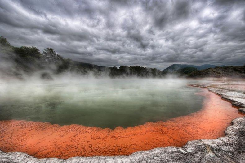 Шампейн-Пул: бассейн с шампанским в Новой Зеландии