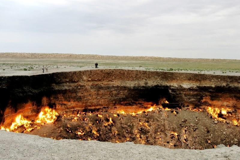 Где находятся врата ада? Дарваза — газовый кратер в Туркменистане