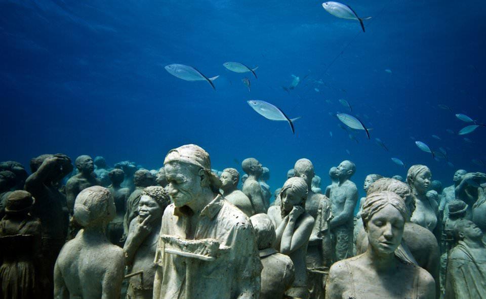 Подводный музей Муза: город Канкун, Мексика