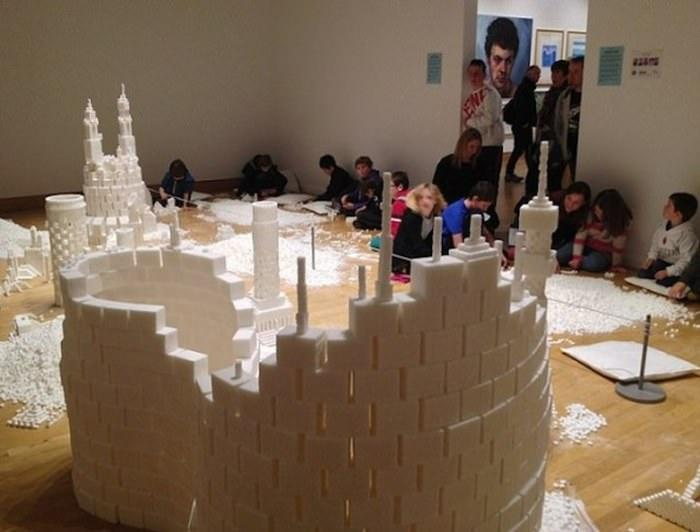 «Сахарный метрополис» - город из 500 000 сахарных кубиков