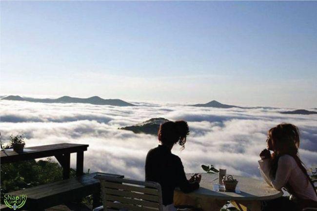 Терраса Ункай в Японии или ужин в облаках