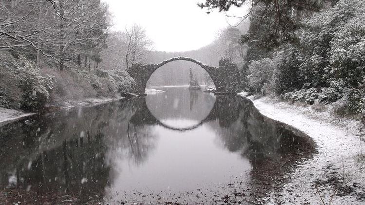 Ракоцбрюке, Германия - удивительный Мост Дьявола XIX века