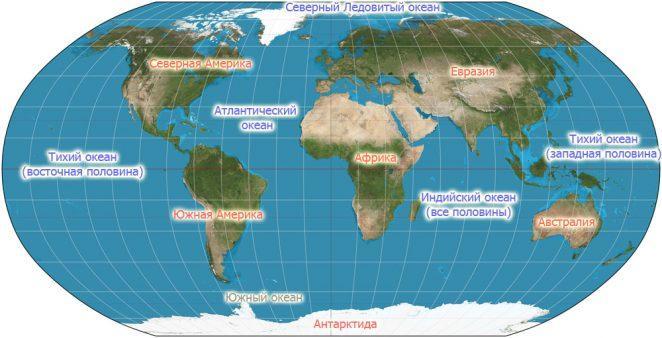 Сколько континентов в мире? Их реальные размеры