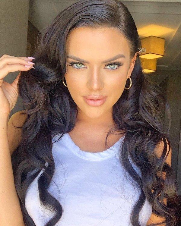 Красивые девушки с голубыми глазами  (41 фото)