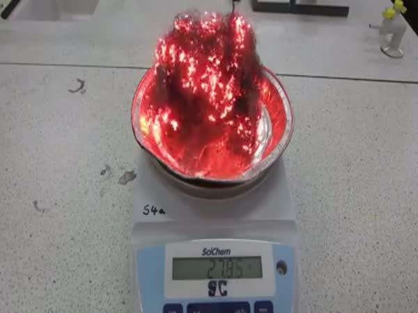 Если сжечь стальную вату, её вес увеличится
