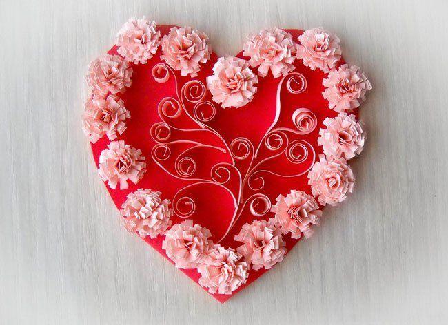 Как сделать валентинку на 14 февраля своими руками из бумаги