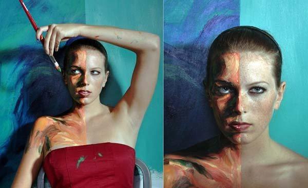 Художница Алекса Мид превращает людей в живые картины