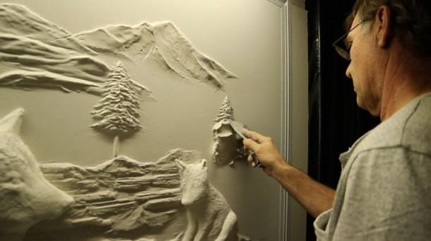 Невероятные барельефы на гипсокартоне. Шедевры Берни Митчелла