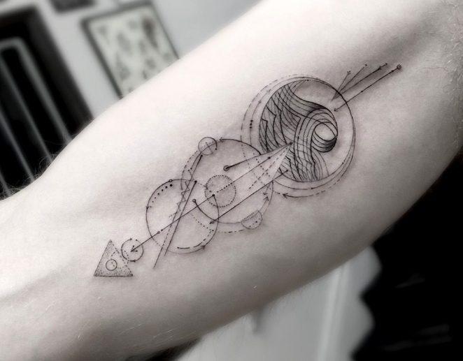 Геометрические тату. Татуировки в стиле Геометрия