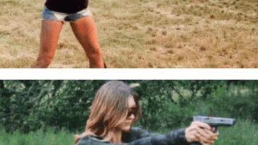 Опасные девушки с большими пушками (15 гиф)