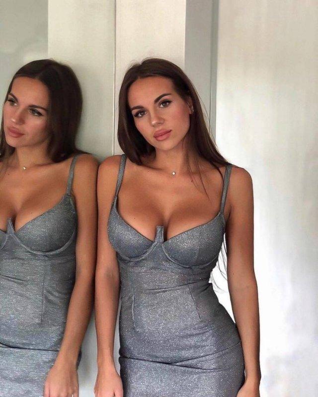 Девушки в обтянутых платьях (53 фото)