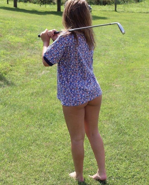 Сексуальные спортивные девушки гольфистки (36 фото)