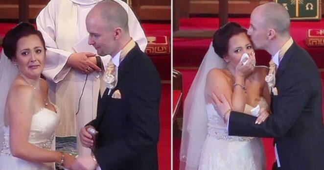 После заветного «да» он попросил невесту обернуться. Вдруг она начала плакать...