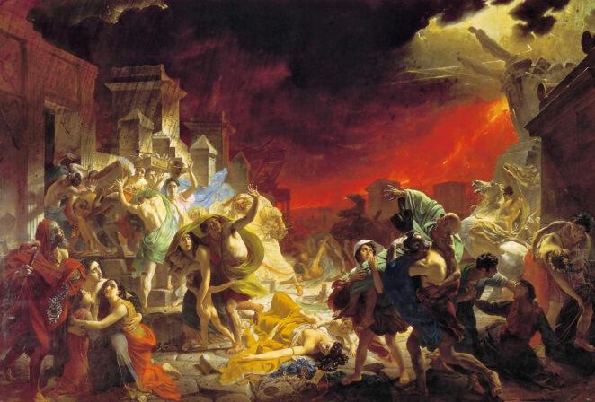 «Последний день Помпеи» - анимационный ролик, показывающий разрушение Помпеи
