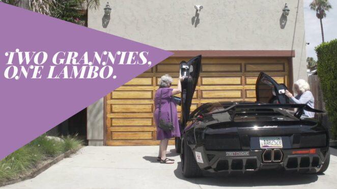 Две бабушки оттянулись на Lamborghini