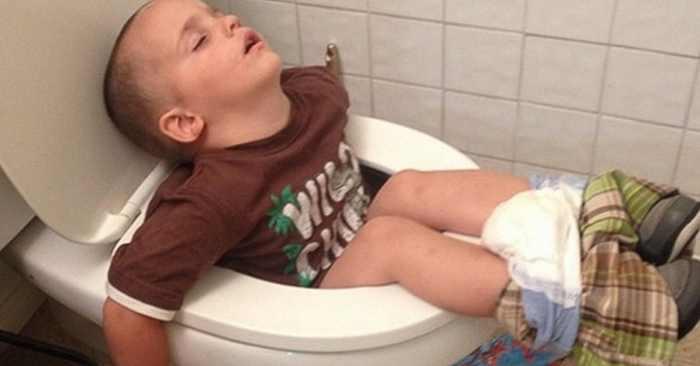 20 доказательств, что ребенок может заснуть где угодно :)