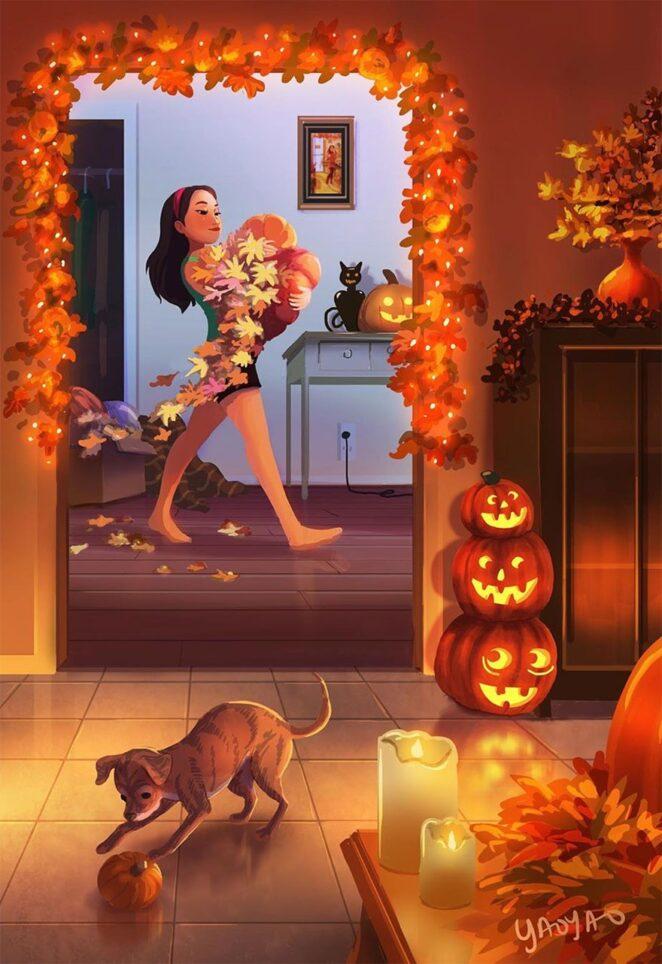 Заводить ли домашнего питомца? Иллюстрации Яояо Ма Ван Ас помогут вам определиться!