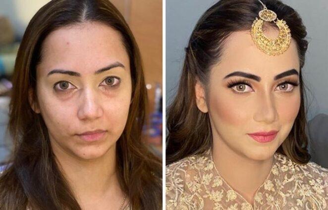 23 красивых фото невест до и после свадебного макияжа!