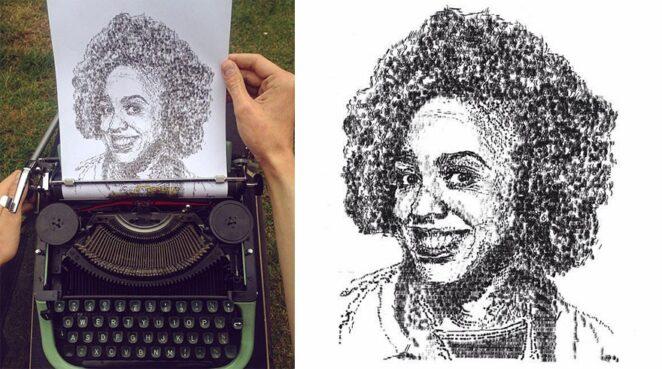 """20 впечатляющих картин """"нарисованных"""" на печатной машинке"""