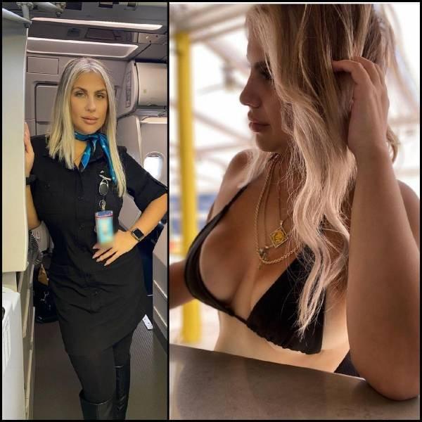 34 фото горячих стюардесс