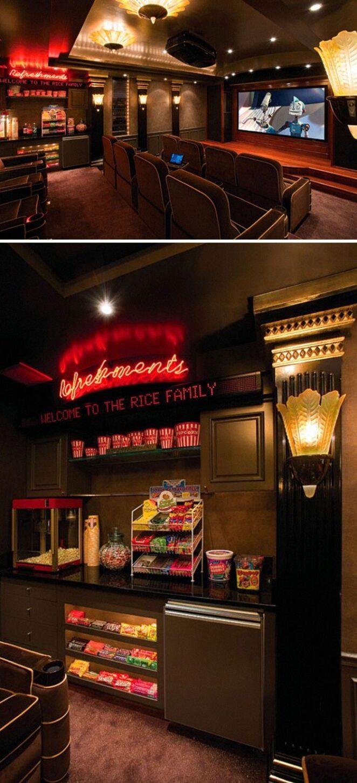 Потрясающие домашние кинотеатры, которые вам тоже захочется построить!